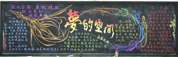 高中生中国梦黑板报